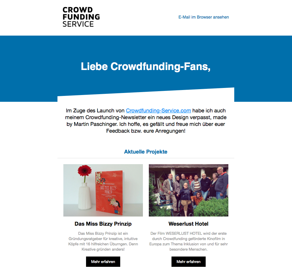 Crowdfunding-Newsletter